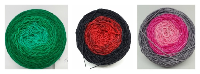 Gradient skein collage for website blog
